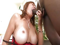 Busty mom Desi Foxx acquires it from a large black wang