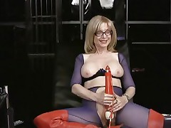 Nina Hartley loves tormenting her soaked wet slot