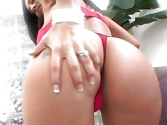 Sexual Raylene bounces her tattooed butt