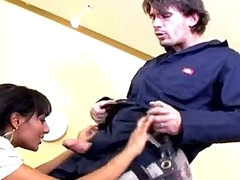 Darksome Haired Office Slut Loona Luxx Eagerly Takes A Long Rod In Her Soaked Face hole