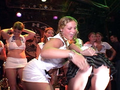 Lots of stripped Spring Break beaver action. Mad gals going at it on stage with no inhibitions. Big titties little titties slim and tall. U name it we have it all!