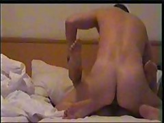Nice girl's skillful mouth works on her lover's beefy pecker, licking and sucking it very keenly and gets fucked ardently.