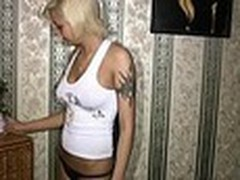 Sassy tattooed golden-haired always inspires her boy-friend to make hot recent home videos with her starring in them. This time she oiled her smooth firm body and sticking tits in front of him then admiring herself in the mirror!