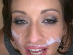 Makalie has a recent company and is looking for a very particular recent employee to demo her product in womens homes. Semen Facial Solutions sends out guys to get blowjobs and dump large loads of cum on womens faces then feed 'em the cum. My dream job. The