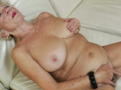 Hot grandma acquires her beaver wet