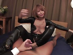 Welcome home honey! Before we go to bed, why don't I show u my recent leather body suit? And whilst we're at it, why don't u taste my taut butt hole and I'll ride your angry dick whilst u you play with my enormous jugs at the same time? We'll reach heaven before we call it a night, my dear hubby!