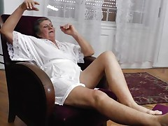 See this short haired granny masturbating in her room. She is alone and this babe needs to calm the doxy inside her who needs cocks to fuck. So this lady has only one way to survive. That is playing on her own! See how this babe is groping her own tits and then rubbing her bawdy cleft previous to doing a nice fingering!