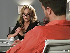 Look at that blonde lawyer talking to an accused man. Look at those big zeppelins and her sexy booty getting that guy extremely horny. Do u think She will get some spunk on her juicy lips or some hard ramrod in her tight ass?