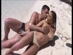 Sex on a beach with his extremely sexy lover