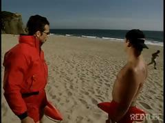 Sexy Baywatch angels didn't bother to hook boys and ended up fucking with each other